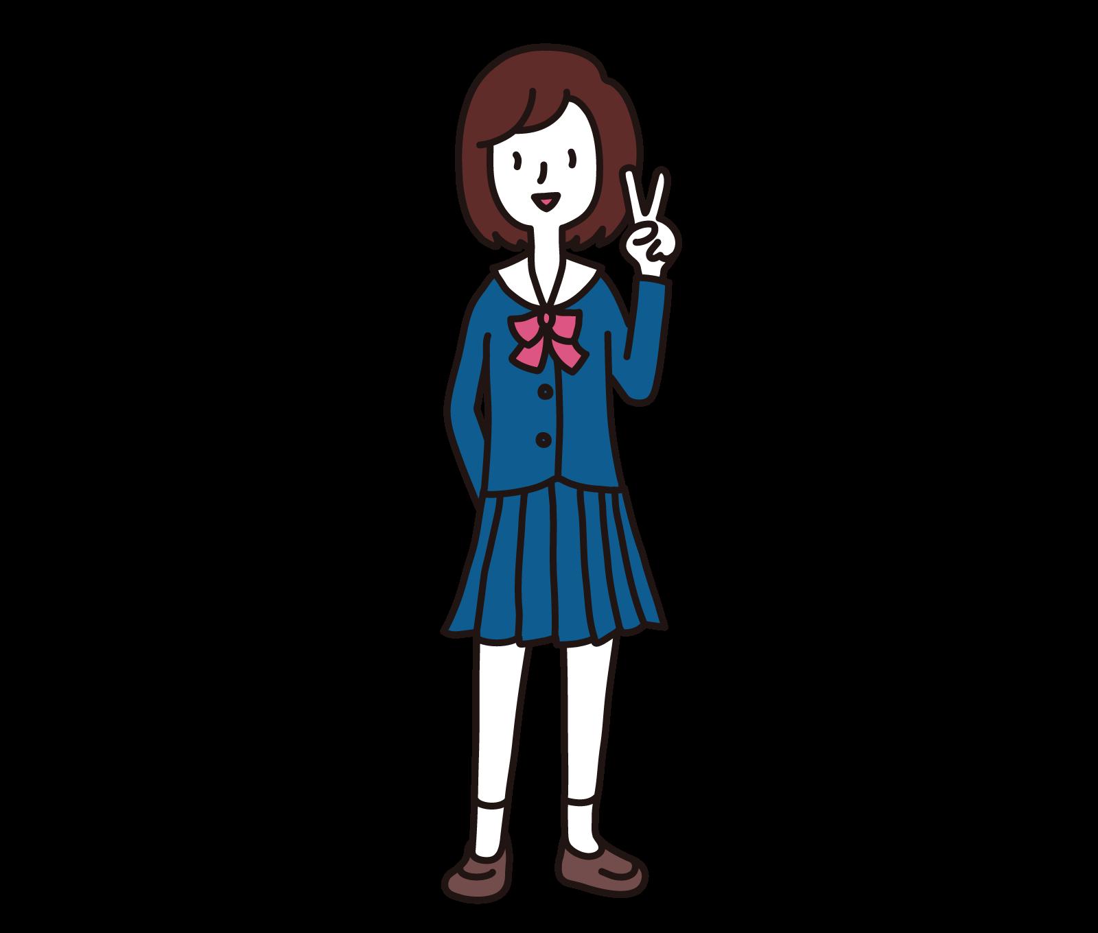女子高校生(ブレザー)