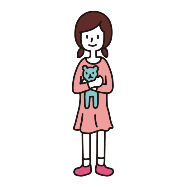 私服の小学生(女子)