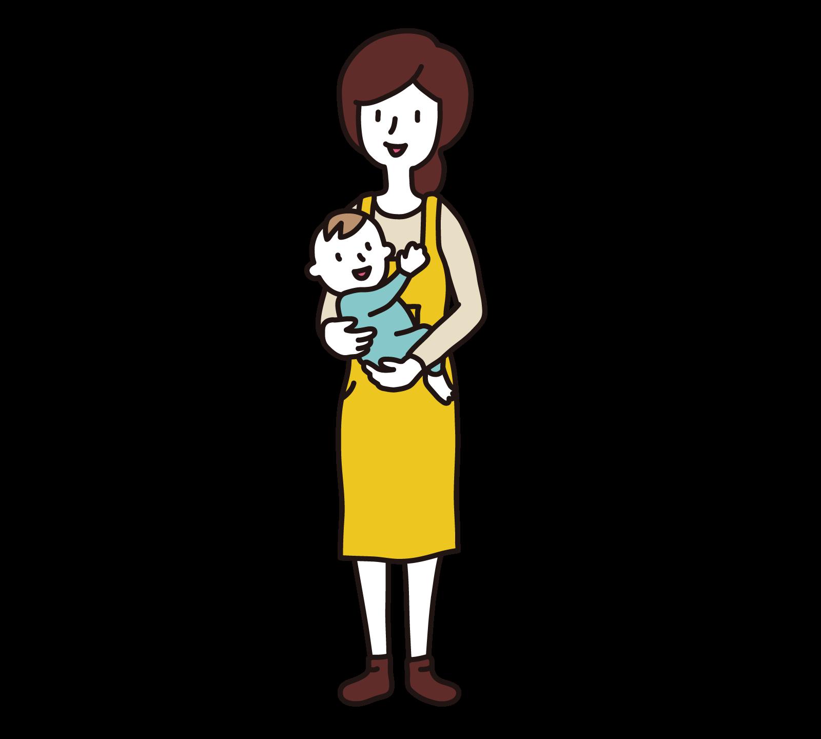 お母さんと赤ちゃん – 無料で使える、フリーイラストwebサイト「かくすた」