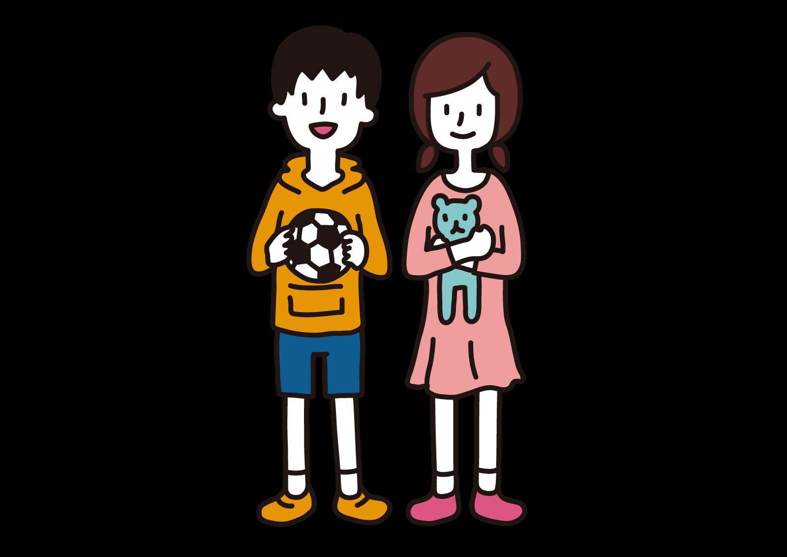 小学生の子ども私服 無料で使えるフリーイラストwebサイト