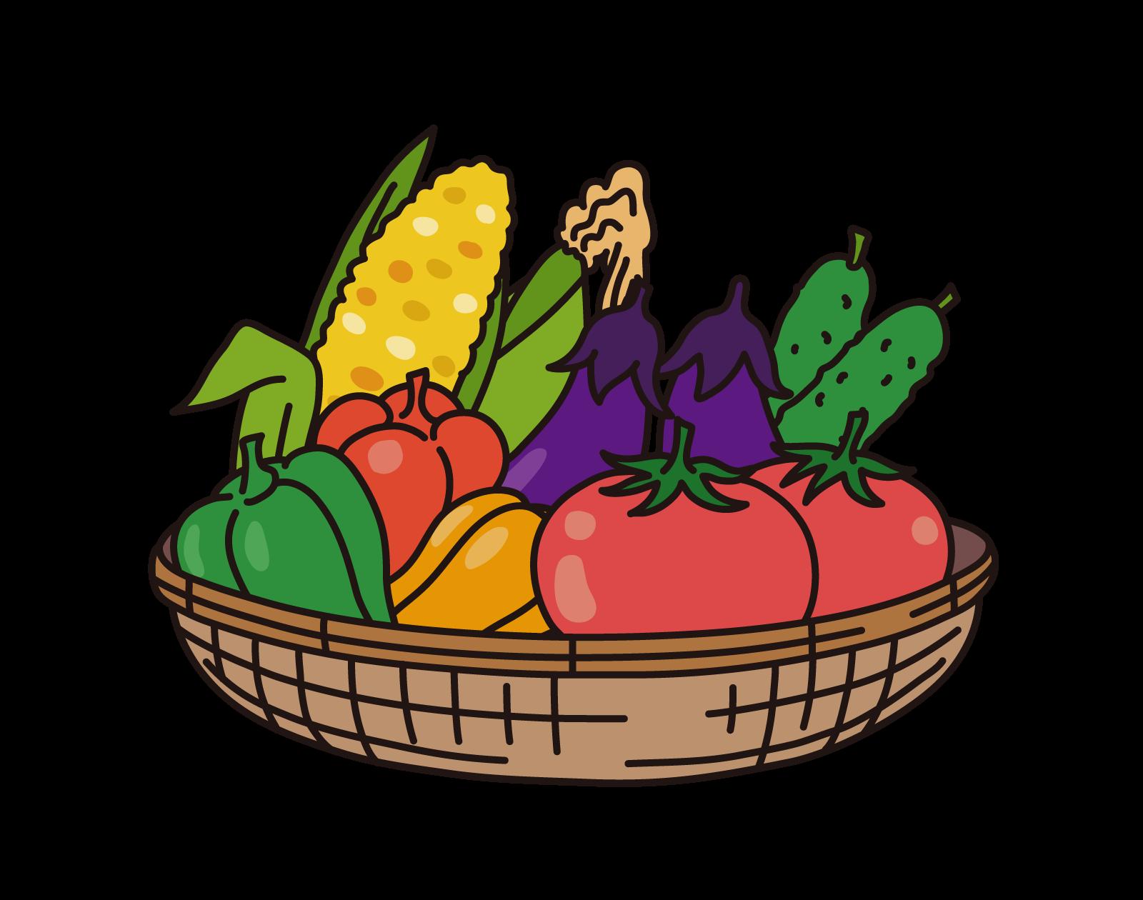 夏野菜 – 無料で使える、フリーイラストWEBサイト「かくすた」